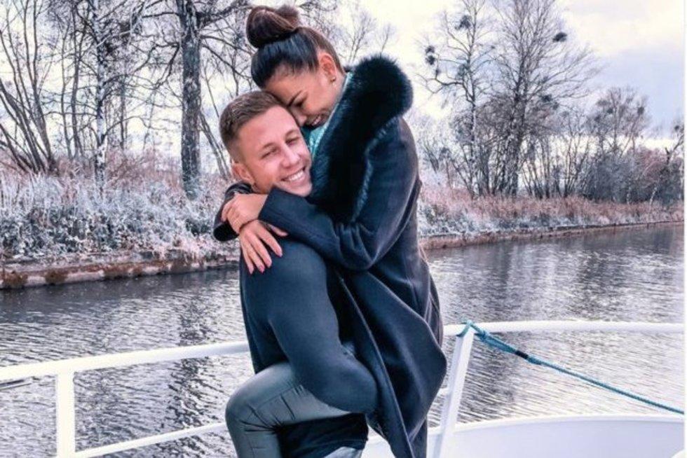 Liudas Vaisieta ir Indrė Burlinskaitė (nuotr. Instagram)