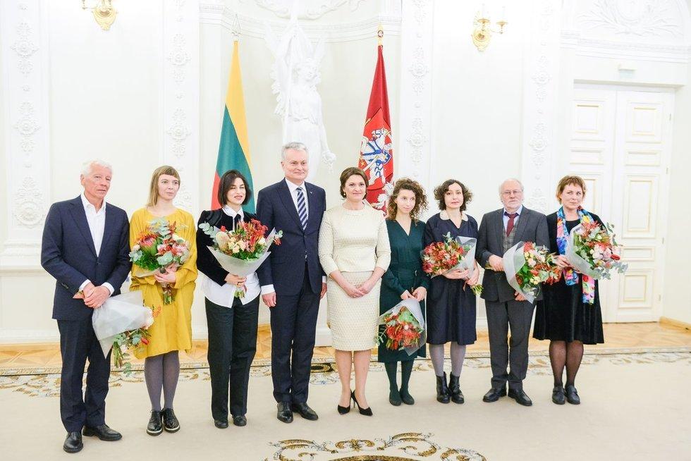 Nacionalinės kultūros ir meno premijų ceremonija Prezidentūroje (nuotr. Fotodiena/Justinas Auškelis)