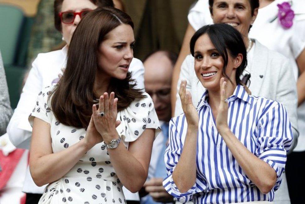 Kate Middleton ir Meghan Markle (nuotr. SCANPIX)