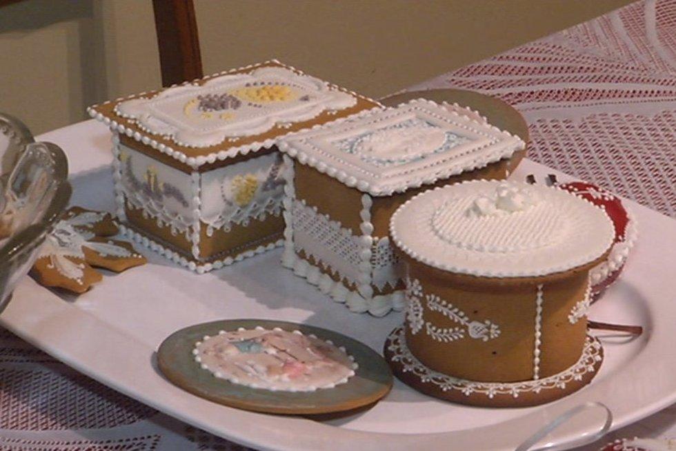 Parodė, ką galima sukurti iš imbierinių sausainių (nuotr. TV3)