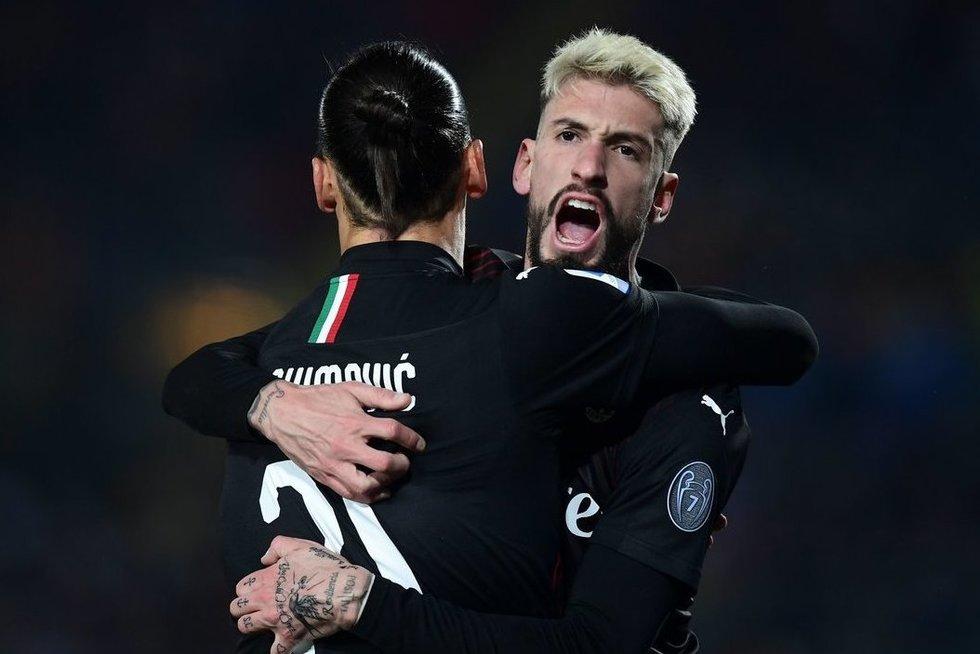 Milano ekipa šventė pergalę (nuotr. SCANPIX)