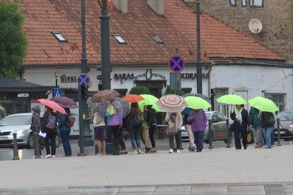 Lietus Vilniuje (nuotr. stopkadras)