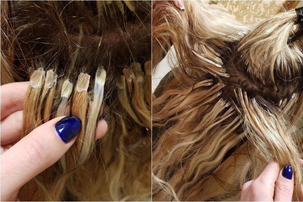 Plaukų priauginimas (nuotr. asm. archyvo)