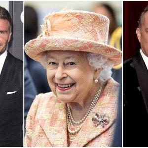 Beckhamas pakerėjo net karalienę: Hanksas atskleidė netikėtus jos žodžius