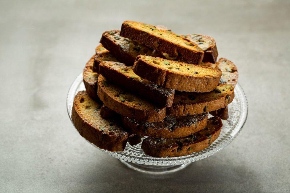 Tradiciniai itališki sausainiai Cantucci