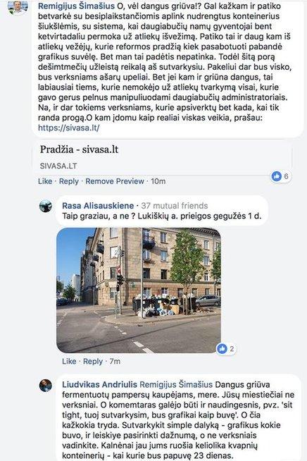 R. Šimašiaus atsakymas (Facebook.com)