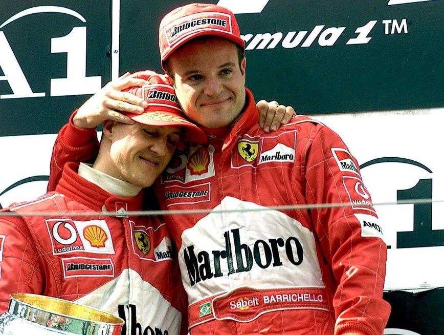 Michaelis Schumacheris ir Rubensas Barrichello (nuotr. asm. archyvo)