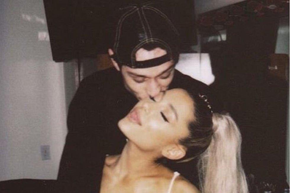 Ariana Grande su Pete Davidson (nuotr. Instagram)