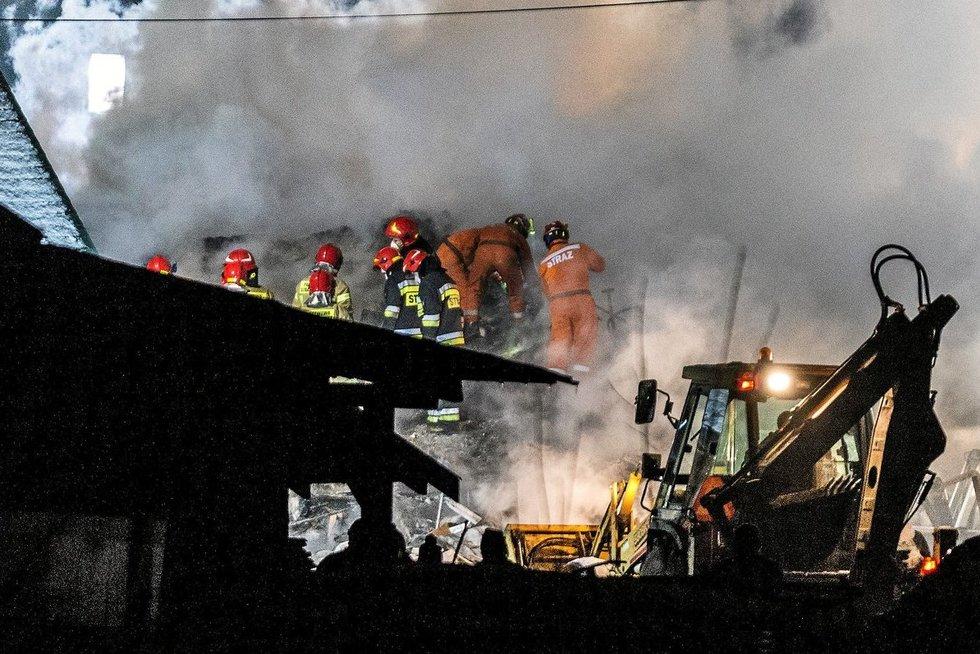 Lenkijos kurorte sprogimas sugriovė namą (nuotr. Scanpix)