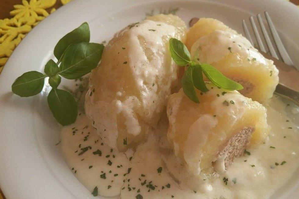 Tarkuotų bulvių cepelinai (nuotr. asm. archyvo)