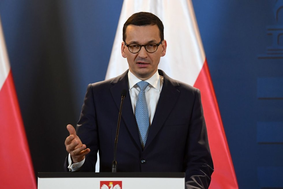 Lenkijos premjeras Mateuszas Morawieckis