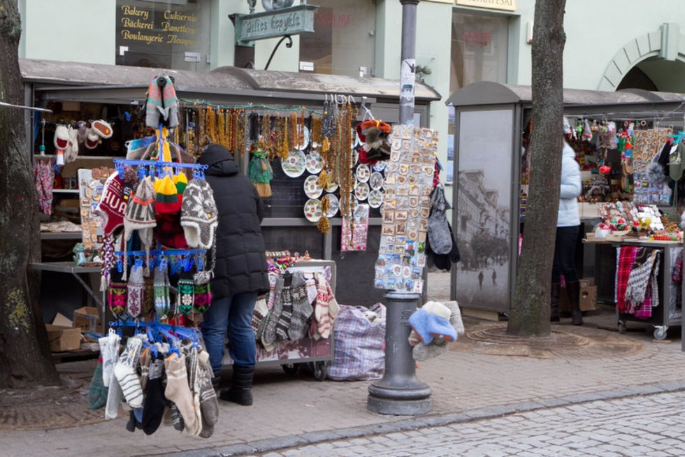 Pilies gatvės prekeiviai (nuotr. Balsas.lt/Ruslano Kondratjevo)