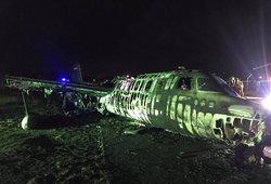 Sprogo priemones kovai su koronavirusu gabenęs lėktuvas: žuvo visi keleiviai