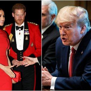 Į JAV persikėlę princas Harry ir Meghan sulaukė nemalonaus pranešimo iš Trumpo
