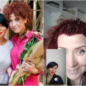 Aktorė Dominaitytė plaukus dažėsi stilistei stebint nuotoliniu būdu: viską užfiksavo