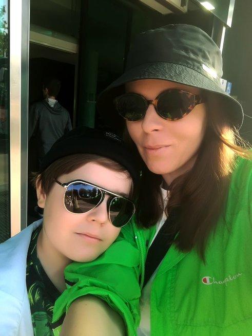 Kasparas su mama Atėne