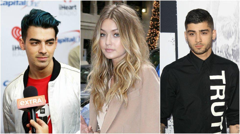 Zaynas Malikas, Gigi Hadid ir Joe Jonas (nuotr. Vida Press)