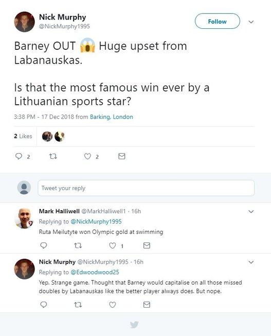 Smiginio gerbėjo komentaras (nuotr. Twitter)