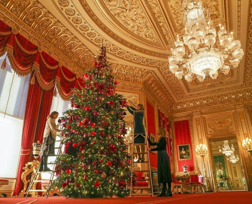 Kalėdų eglutė Windsor pilyje