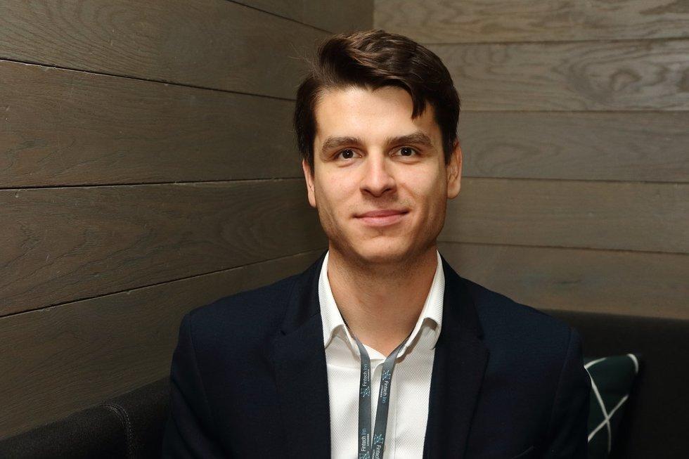 TransferGo bendraįkūrėjas Daumantas Dvilinskas (nuotr. Tv3.lt/Ruslano Kondratjevo)