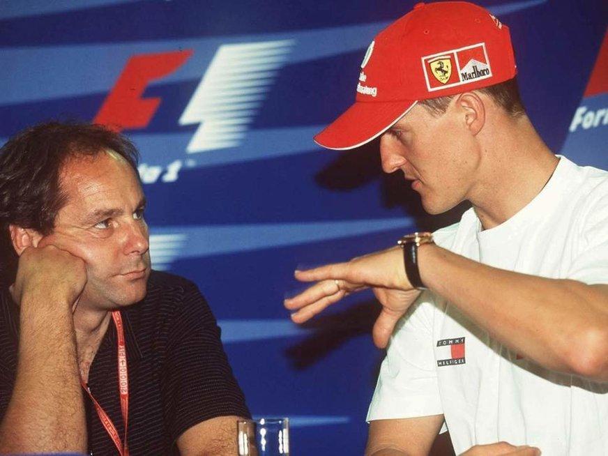 Gerhardas Bergeris ir Michaelis Schumacheris (nuotr. Getty)
