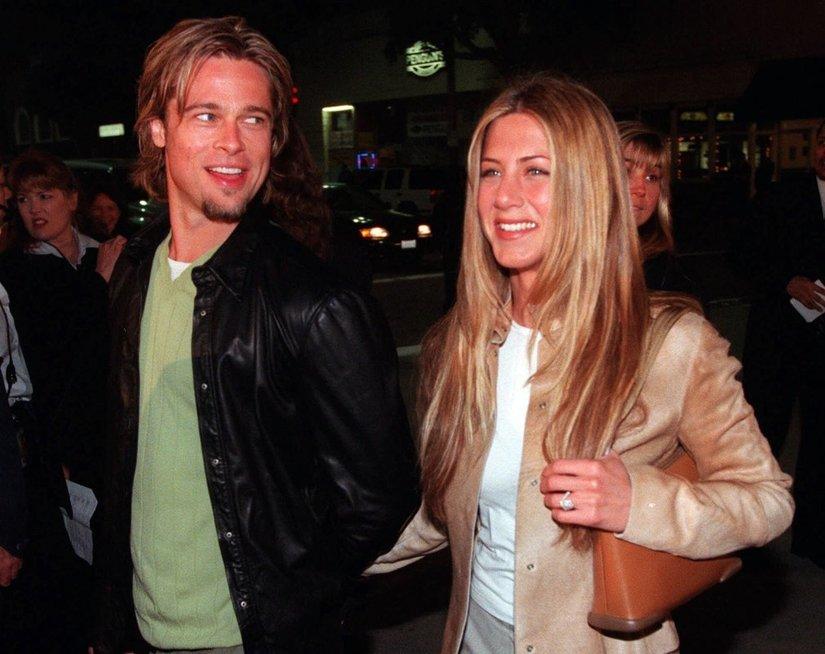 Jennifer Aniston ir Brad Pitt