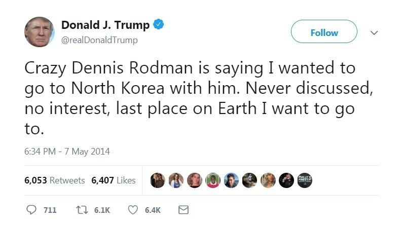 D.Trumpas apie D.Rodmaną (nuotr. Twitter)