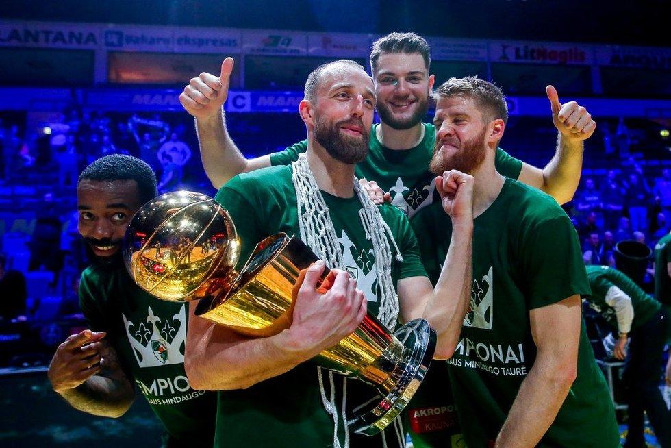 Žalgiriečiai iškovojo pirmą sezono trofėjų (nuotr. Fotodiena.lt/Mato Baranausko)