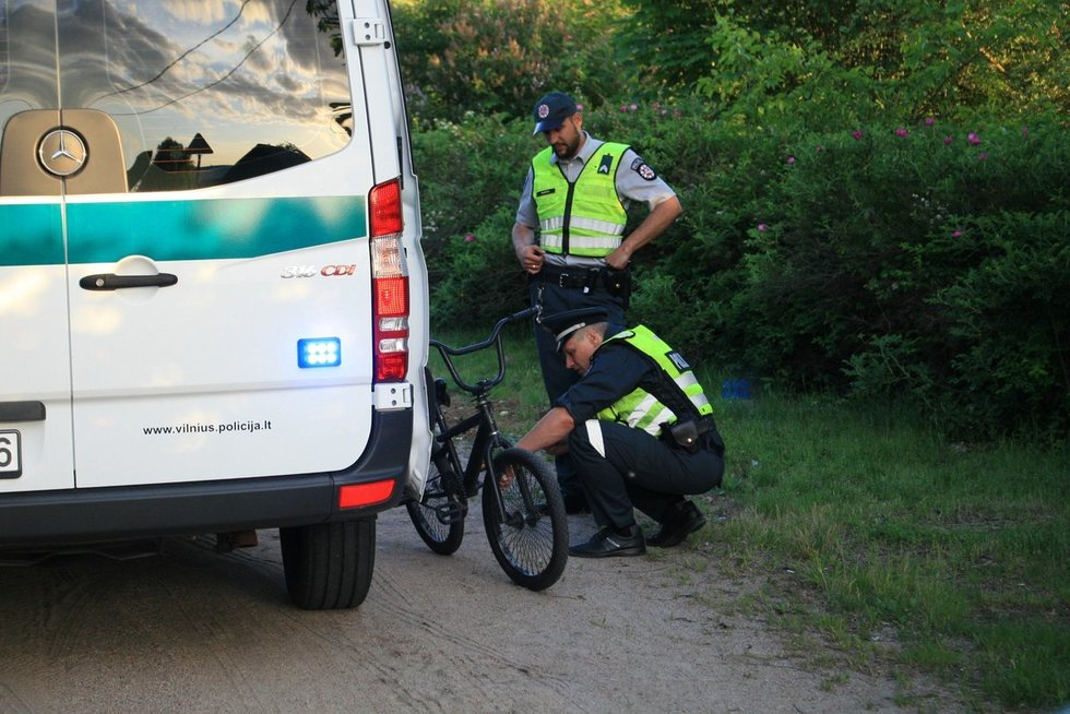 Per plauką nuo tragedijos: sunkvežimis Vilniuje kliudė vaiką, šis vos nebuvo sutrintas (nuotr. Broniaus Jablonsko)