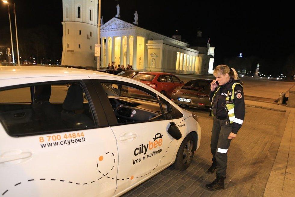 """""""CityBee"""" vairuotojas įpūtė 1,74 prom. nuotr. Broniaus Jablonsko"""