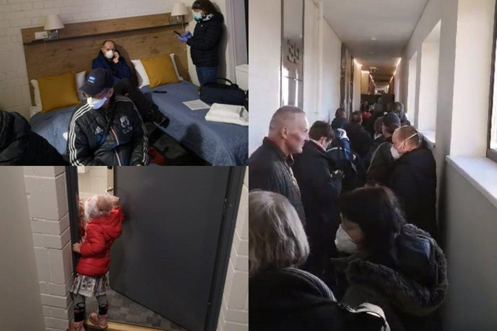 Apie karantiną viešbutyje prabilęs vyras: dalis žmonių liko miegoti koridoriuje (nuotr. asm. archyvo)