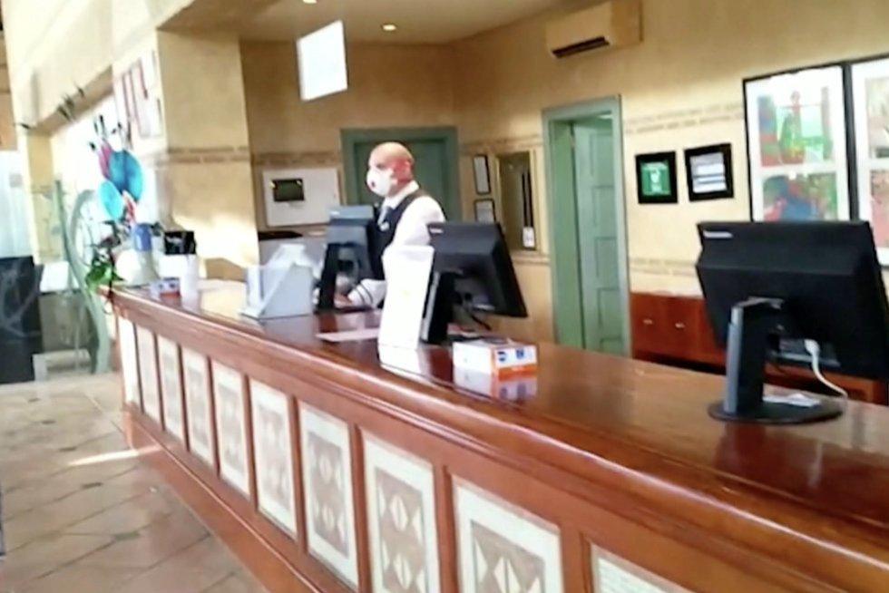 Tenerifės viešbutis (nuotr. stop kadras)