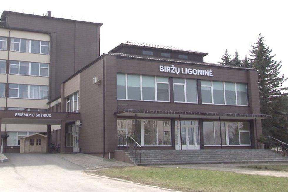 Biržų ligoninė (nuotr. stop kadras)