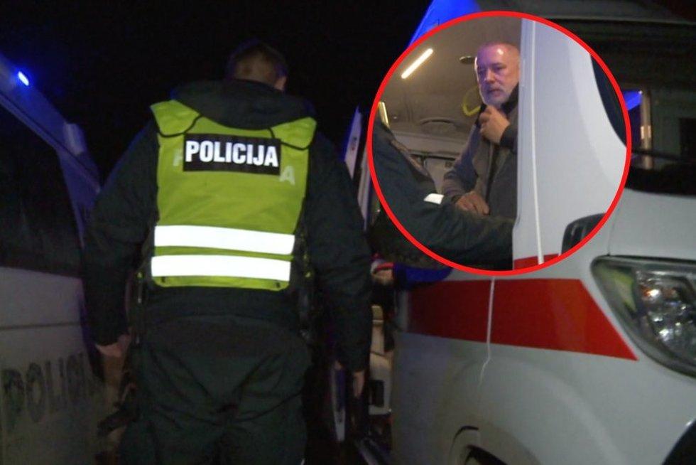 """""""Via Baltica"""" kelyje – sukrečiantis incidentas: jei ne pareigūnai, vairuotojas būtų miręs (nuotr. stop kadras)"""