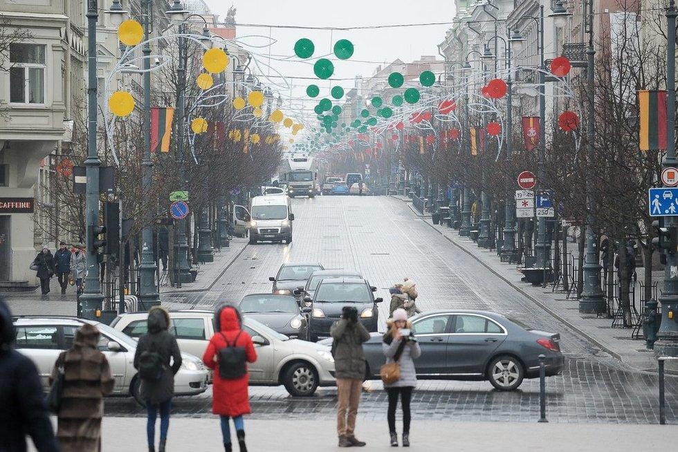 Vilnius pasipuošė Lietuvos šimtmečiui (nuotr. Fotodiena.lt)