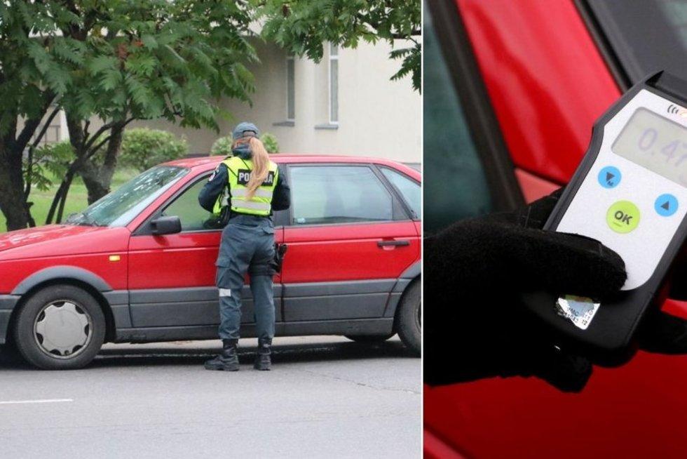 Girtas vairuotojas (nuotr. Policijos)