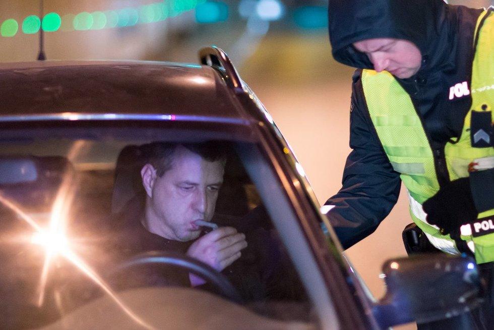 Vilniuje įkliuvo smarkiai apgirtęs vairuotojas nuotr. Broniaus Jablonsko