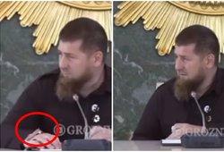 Kadyrovas prabilo apie savo sveikatą: kalbėti privertė netyčia pastebėta žymė ant rankos