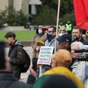 Protestas prie Seimo: priekaištauta dėl slaptų implantų, kurie valdo žmones