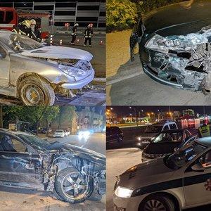 Vilniuje naktį siautėjo girti vairuotojai: daužė automobilius, prireikė ir gelbėtojų