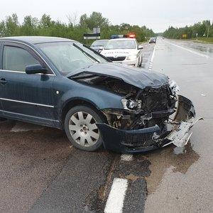 Avariją Vilniaus rajone sukėlė girtas pasienietis, nukentėjo du vaikai