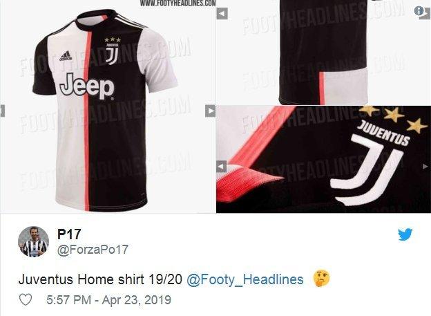 """Naujoji """"Juventus"""" apranga  (nuotr. Twitter)"""