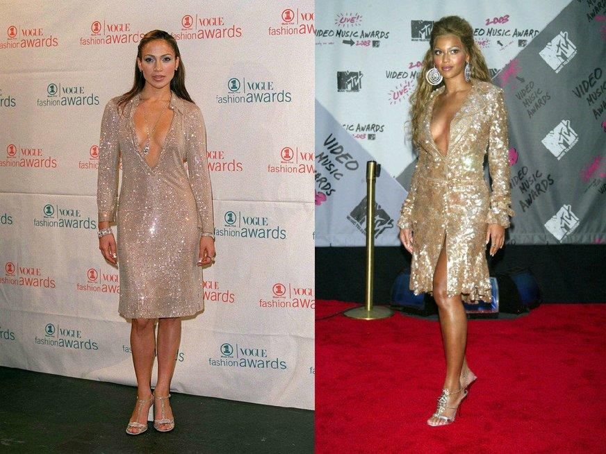 Jennifer Lopez ir Beyonce (nuotr. Vida Press)