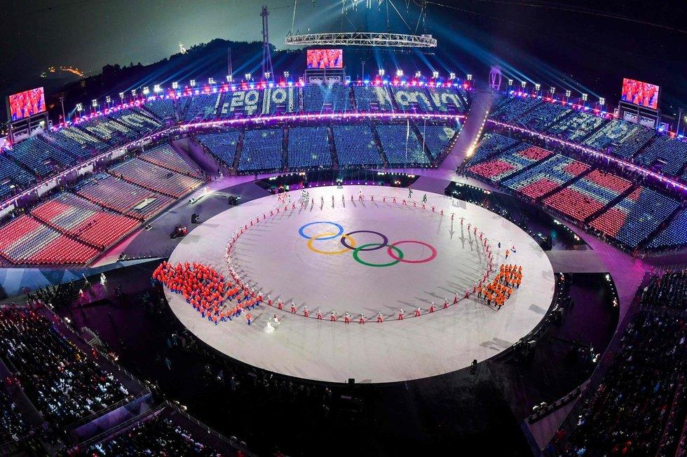Žiemos olimpinių žaidynių atidarymo ceremonija (nuotr. SCANPIX)