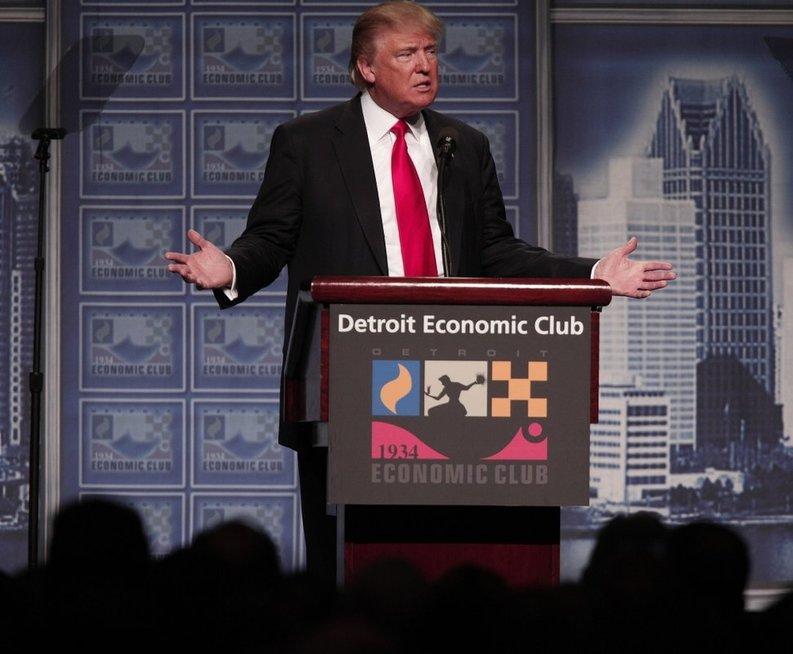 """Donaldas Trumpas pristatė savo """"užvesti Ameriką"""" planą (nuotr. SCANPIX)"""