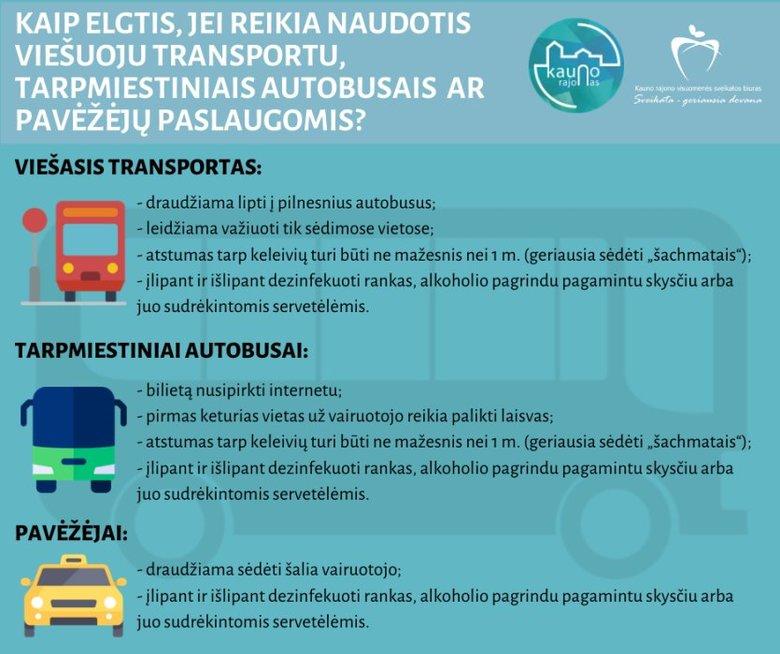 Transporto taisyklės karantino metu Lietuvoje