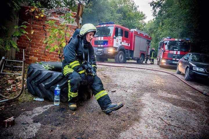 Irmantė pasirinko ugniagesės profesiją (nuotr. asm. archyvo)