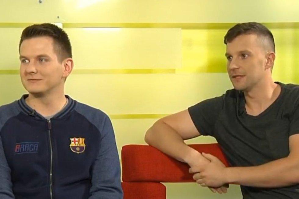R. Vyšniauskas ir M. Laurinaitis (nuotr. stop kadras)
