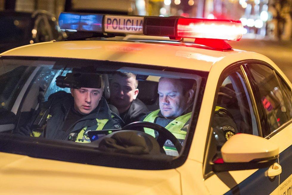 Girtas kėdainietis mersedeso vairuotojas bandė sprukti nuotr. Broniaus Jablonsko