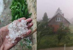 Lietuvą išbando škvalas: gyventojai dalijasi audros vaizdais